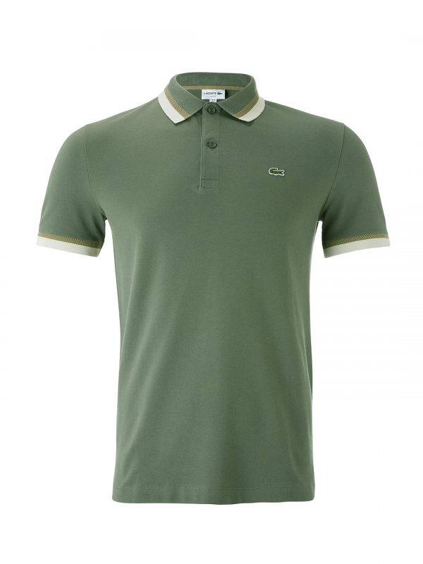 Lacoste Manches À PoloVert Courtes Twin Slim Fit RjqAL435