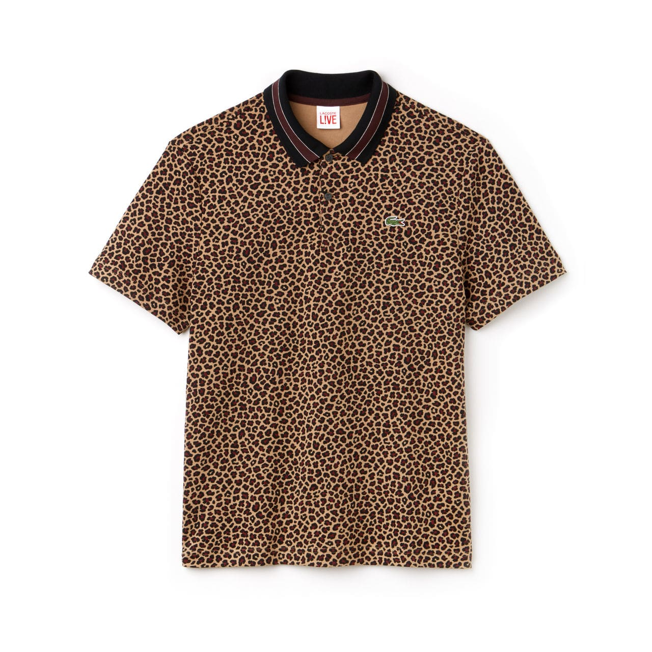 Lacoste Hommes LIVE Regular Fit Leopard Print Interlock Polo – LAVALIERE/MULTICO